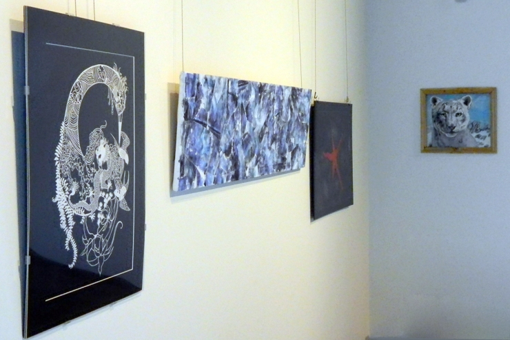 installation image from the Clamor launch party