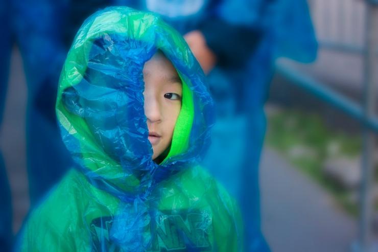 Tang-Blue Poncho